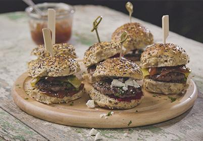 Mini burgers d'agneau